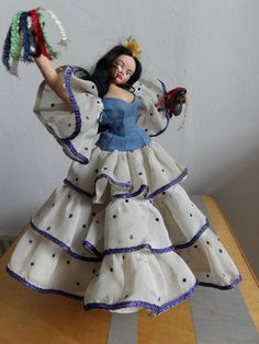 """Flamenco Spanish Dancer . Layna Klumpe Roland Style. Some age related marks & bit dusty but otherwise in a Good Pre-Loved Condition. Made In Spain - Valencia. Approx 9"""" Tall. 