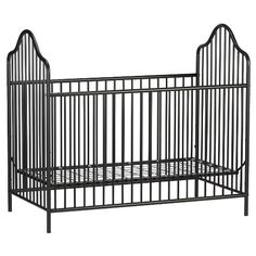 Inspired by antique wrought iron, the Rowan Valley metal collection is styled along Victorian lines, with gently arched tubes and beautifully crafted spindles. Non-toxic, black painted steel tubes are smooth and strong. They will resist scuffs and scratches while providing stability at every mattress height. Mattress support is adjustable so children are safe and easy to reach as they grow. This set includes both a crib and changing table. Like all Little Seeds products, this purchase helps…