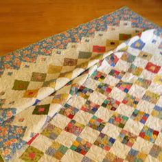 Believe it or not, I have finished a second quilt this month! Spring Garden is now bound and ready to be enjoyed. Scrappy Quilts, Quilting, Nine Patch Quilt, Sewing Circles, Swirl Pattern, Number Two, Spring Garden, My Favorite Part, Quilt Patterns