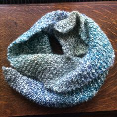 Knitted scarf  Ocean by TaylorandMorris on Etsy