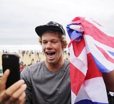 Surfing's reigning champs get the nod in 'Action Sports' category Famous Surfers, Pro Surfers, John John Florence, Surfer Guys, Surf News, Kelly Slater, Reigning Champ, Surfs Up, Champs