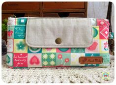Cherry Handmade Store: Clutch Bag/Wristlet Pouch (~Green Square~)