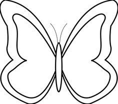 white butterfly clip art banners pinterest clipart images rh pinterest com black and white butterfly outline clipart butterfly clipart black and white