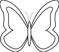 Black And White Butterfly Clip Art - ClipArt Best