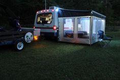1995 Rialta QD Cargo Van Conversion, Diy Van Conversions, Camper Conversion, Rv Interior, Interior Design, Ford Transit Connect Camper, Add A Room, Class B Rv, Rv Mods