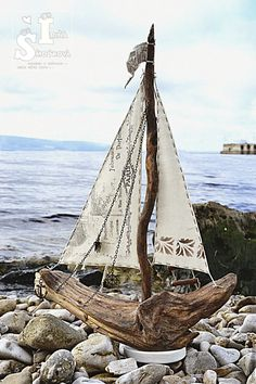 Купить ПАРУСНИК большой - бежево-коричневый, бежевый, корабль, кораблик, кораблики, корабли, парусный корабль, парусник
