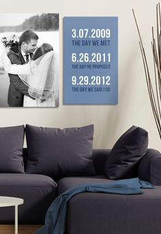 AWESOME way to remember my wedding day! I'm going to put this up in my living room!
