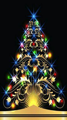 Such a beautiful Christmas tree! Christmas Scenes, Noel Christmas, Christmas Wishes, Christmas Pictures, Christmas Greetings, Winter Christmas, Vintage Christmas, Xmas, Merry Christmas Wallpaper