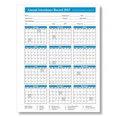 2015 Employee Attendance Calendar Free Printable Attendance Calendar