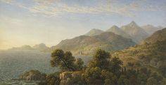 john glover - the italian coast near naples (1828), pencil, watercolour, gum on ivory wove paper.