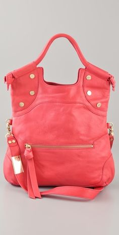 Gorgeous coral bag.