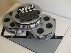 Hollywood Film Reel Cake