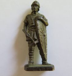 Vintage Miniature Soldier//Vintage Kinder Surprise Soldier// Metal Soldier Figurine by Waitingforgeorge on Etsy
