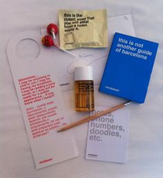 Branded items from Chic & Basic hotel Barcelona...