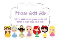 So cute for small groups:  Princess themed social skills from the blog, If Only I Had Super Powers... This is a really cute idea. Could be altered a little to teach your own little princess at home. Incorporate learning while playing dress up