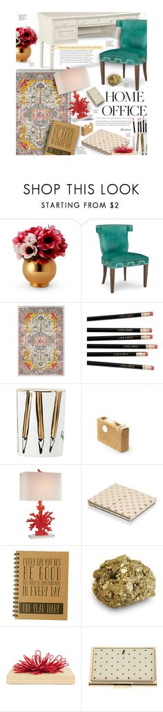 """""""Work Hard: Home Office"""" by thewondersoffashion ❤ liked on Polyvore featuring interior, interiors, interior design, home, home decor, interior decorating, Gabriella, Trilogy, Artisan and Surya"""