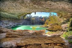 Hamilton Pool - located about 23 miles (37 km) west of Austin, Texas off Highway 71