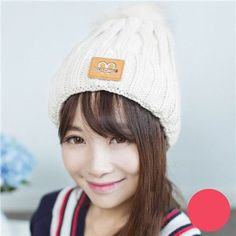 Winter Real Fur Pom Poms Hat For Women Girl's Genuine Pompom Knitted Beanie Thick Raccoon Fur Pompon Hat Crochet Yarn Ball M061