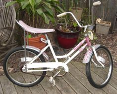 "My first ""big girl"" bike. A Desert Rose Huffy with banana seat"