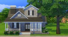 Check out this lot in The Sims 4 Gallery! - It was really fun to make, hope you like :) Sims 4 House Plans, Sims 4 House Building, Sims 4 Family, Sims 4 House Design, Casas The Sims 4, Cartoon House, Sims Ideas, Sims 4 Build, Starter Home