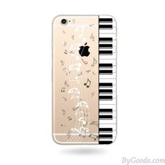 Transparent Music Piano Sweet Cute Cat Soft Silicone IPhone 6/6s/6plus Case only $19.99 in ByGoods.com!