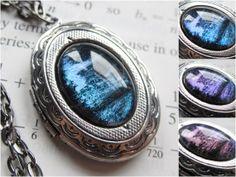 Ison  Silver Locket  Science Jewelry  Galaxy by DarkMatterJewelry