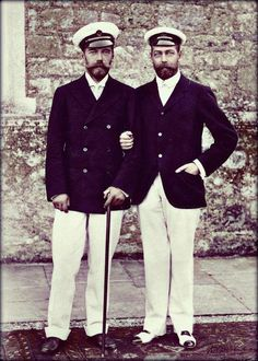Tsar Nicholas II of Russia and King George V of Great Britain.