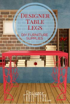 DesignerTableLegs.com   Red Gadsby Art Deco Table Legs   DIY Furniture Ikea