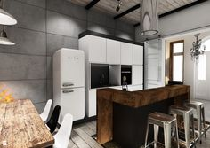 Zdjęcie: Kuchnia styl Industrialny - Kuchnia - Styl Industrialny - Luk Studio Pracownia Projektowa