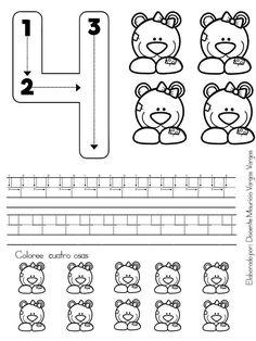Preschool Number Worksheets, Flashcards For Kids, Free Kindergarten Worksheets, Preschool Writing, Numbers Preschool, Preschool Letters, Preschool Learning Activities, Learning Numbers, Numbers For Kids