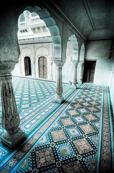 ♕Simply Divine #Interiordesign ~ Indian Interior ~ Architecture ~ inside Junagarh Fort by abmiller99, via Flickr