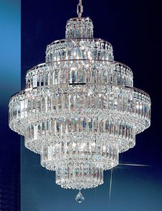 15 Lights crystal chandelier with crystalique-plus crystal and chrome finish - Small crystal chandeliers - Chandeliers