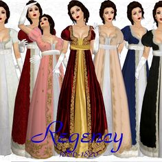 Regency gowns