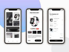 Store App Concept designed by 刘狗蛋 for DCU. Connect with them on Dribbble; Ios App Design, Mobile Ui Design, User Interface Design, Ux Design, Apple Shop, Card Ui, Apple Watch Nike, Concept Shop, Mobile App Ui