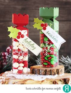 Reverse Confetti Crazy For Christmas - Treat Tubes - Just Give Me Stamps...