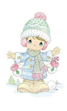 Precious Moments - Christmas Precious Moments Quotes, Precious Moments Coloring Pages, Precious Moments Figurines, Cute Images, Cute Pictures, Dibujos Cute, Crochet Humor, Monster High Dolls, My Precious