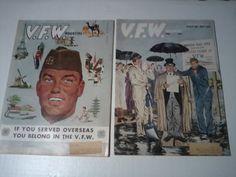 2 Vintage VFW  Veterans of Foreign Wars  by vintagepostexchange