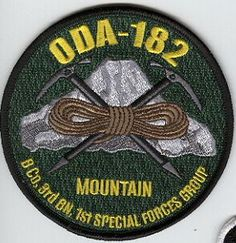 1st Special Forces Group Pocket Patches Operational Detachment A-182 B Company, 3rd Battalion Type 3