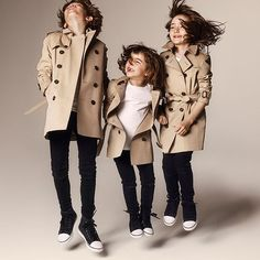 Burberry Childrenswear Campaign, way too cute!