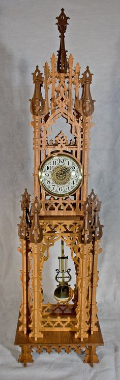 Decorative Fretwork Clock with Westminster Chime by KoziKrafts, $499.95