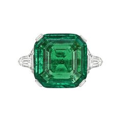 Betteridge Emerald-Cut Emerald & Diamond Ring