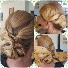 vintage waves updo low bun hairstyle bridal hair style  hair by Sara of Absolutely Fabulous Hair www.absolutelyfabuloushair.co.nz