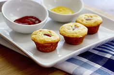 Corn dog muffins from In Sock Monkey Slippers - my 10yo will love these