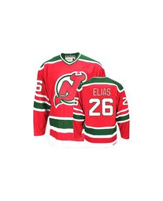 0ba9b767eb3 New Jersey Devils Scott Stevens Premier Red and Green CCM Throwback Jersey