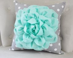 Items similar to Mint Green Throw Pillow with Gray and White Polka Dot. Mint Home Decor Aqua Seafoam Mint Decor. Mint Bedroom Home Decor on Etsy Bedroom Green, White Bedroom, Bedroom Colors, Bedroom Decor, Bedroom Ideas, Green Throw Pillows, Cute Pillows, Mint Green Decor, Mint Rooms