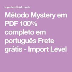 Método Mystery em PDF 100% completo em português Frete grátis - Import Level