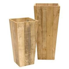 Set of 2 Driftwood Planters : High Camp Home - Interior Design and Home Furnishings - Truckee and Lake Tahoe California Driftwood Planters, Tall Planters, Wooden Planters, Diy Planters, Planter Boxes, Outdoor Projects, Wood Projects, North Carolina Furniture, Wooden Pallets