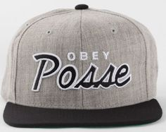 4c99785e1fab0 New Style Obey Snapback Hats Caps Gray 1691 Adidas International