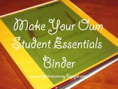 Tutorial: Making an Essentials Binder