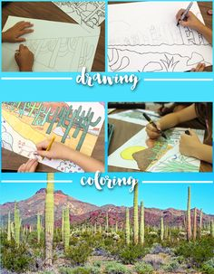 How to draw a perspective landscape: Desert